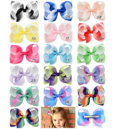 Wholesale Shape Hair Clip - baby headdress 16 colors 4.3 Inch Solid color bubble child bow hair clips Duck color shape baby bow bow hair accessories