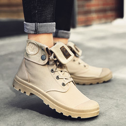 25d7c174064 Men Boots Autumn Shoes Fashion Ankle High Boots New Casual Style Canvas  Lace Up Working MH140