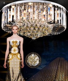 Wholesale Luxury Chandeliers For Dining Rooms - Simple round K9 crystal ceiling lamp LED living room restaurant lights lighting lamps Luxury Fashion Chandelier For Living Room LLFA