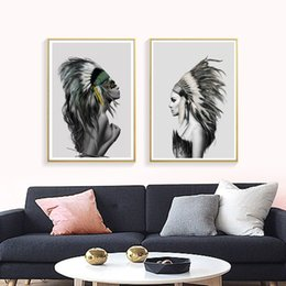 Обнаженные женщины для искусства онлайн-Nordic Sexy Nude Women Canvas Art Painting Prints Fashion Beauty Canvas Posters, Home Decor Wall Pictures for Living Room CH012