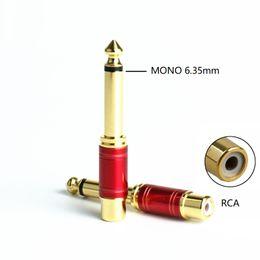 spine di rame rca Sconti 10pcs / lot Rame 6,35mm 1/4