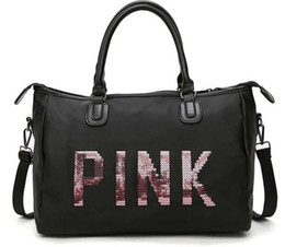 2018 Oxford secret сумка для хранения организатор большой розовый Мужчины Женщины дорожная сумка водонепроницаемый Виктория повседневная пляж упражнения сумки для багажа от Поставщики шнуры для обуви