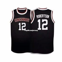 f4ce5e102109 Cheap  12 Oscar Robertson Cincinnati Bearcats Retro Throwbacks Embroidery Stitched  basketball jersey Customize any size number