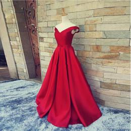 Vestidos de dama de honor rojos a medida baratos 2018 Vestido largo de satén Sash Vestido de fiesta Vestidos de fiesta de noche de corsé Vestidos de dama de honor desde fabricantes