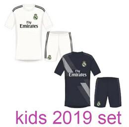 Wholesale Football Jerseys Babies - New Camisetas de Futbol kids Cristiano Ronaldo Jerseys realmadrid home white 2019 Real Madrid 18 19 baby boys football jerseys kits 2018 19