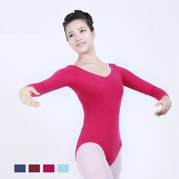 2019 trajes de bailarina adultos 4 Cor Adulto Ballet Leotards Bailarina Bodysuit Meninas Traje de Dança Ballet Leotards Para As Mulheres Roupas Dancewear trajes de bailarina adultos barato