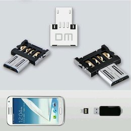 mini usb cell phone charger 2018 - Top Quality Factory Price 100PCS Mini USB Flash Drive U Disk OTG Converter Adapter For Samsung Android Phone Tablet Cell Phone Adapters