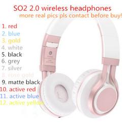 MARCA SO2 auriculares inalámbricos 2.0 diadema sobre audífonos bluetooth DJ HQ ROSE GOLD espacio gris edición especial en audífonos coloridos desde fabricantes