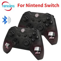 Pc-konsolen-controller online-10 stücke Bluetooth Wireless Game Controller Gamepad Joypad LEDs Fernbedienung Teleskop Controle Joystick für Nintendo Schalter Konsole PC YX-switch01