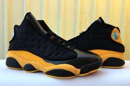 2019 scarpe nere per scuola 13 Melo Class Of 2003 Marca Ritorno a scuola Black Yellow 13s Got Game Men Airs Scarpe da basket scarpe nere per scuola economici