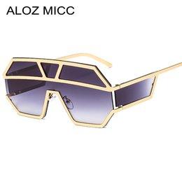 occhiali da sole rosa Sconti ALOZ MICC New One Piece Lens Occhiali da sole Donne oversize Square Occhiali da sole 2019 Brand Designer Uomo Occhiali da sole Shades UV400 A641