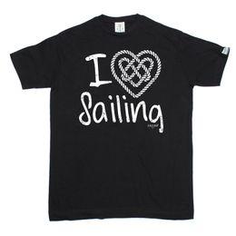 Bootshals-baumwollt-shirt online-Ich liebe Sailinger Knoten Herz T-shirt T-Shirt Segelboot Yacht Gear Lustige Geburtstagsgeschenk Mans einzigartige Baumwolle kurzen Ärmeln O-Neck T-Shirt
