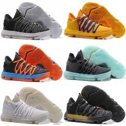 Wholesale Kd Shoes Kids - Sales KD 10 Oreo Black White men women kids shoes Store Kevin Durant Basketball shoes free shipping Wholesale