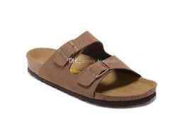 Wholesale Light Blue Flip Flops - Arizona Mayari 2017 New Summer Beach Cork Slipper Flip Flops Sandals Women MEN Color Casual Slides Shoes Flat Free Shipping 34-46