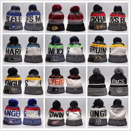 cappelli da skate all'ingrosso Sconti Cappelli lavorati a maglia all'ingrosso di inverno Beanie tutti i 32 squadre squadra di sport dei berretti da baseball dei berretti da baseball delle donne degli uomini cappello popolare di inverno di modo degli uomini