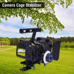 2019 dslr kamerarasche großhandel GH4 A7S DSLR Cage Stabilizer Rig mit Griff Focus Finder Matte Box für DV-Camcorder