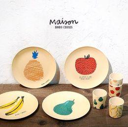 Wholesale melamine dinner - 2016 New Baby Plates Kids Safety Melamine Fedding Dinner Plates Children Fruit Plate Dinnerware Dishes