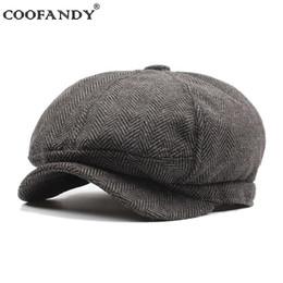 f04f157f0e498 Beiläufige Kappen-Mode-Hut-heiße Streifen-Barette Zeitungsjunge Gatsby- Männer