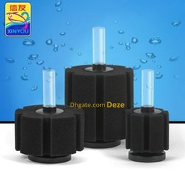 Wholesale air frying - 6Pcs Lot Aquarium Sponge Fry Filter Air Driven Biochemical Fish Tank Corner Filter Filtration Biochemical Sponge Interal Filter