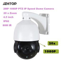 Wholesale outdoor ptz dome camera ir - 4.5 inch Mini HD IP Speed Dome Camera CMOS 2MP 1080P 20xZoom 80M IR IP66 Outdoor PTZ Network Dome Camera