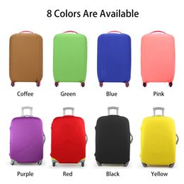 Wholesale Protective Covers For Luggage - Luggage Protective Cover Candy Color For 18-30 inch Trolley suitcase Elastic Dust Bags Case Travel Accessories Supplies S6063
