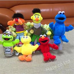 Canada 6pcs / set vente! Sesame Street Elmo Big Bird Soft Peluche Jouets poupée Jouet cadeau Chaud nouveau Offre