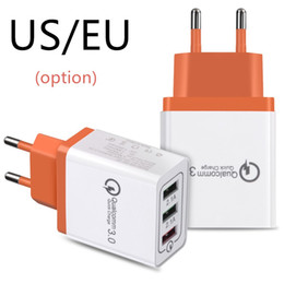 Wholesale Huawei Usb Adapter - 3 USB Port QC 3.0 Fast Wall Charger Quick Charge Adapter for Iphone IPAD Samsung Huawei Xiaomi