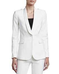 Wholesale White Tuxedo Pant Suit Women - Hot Selling Direct Selling Pantalones Mujer Charming Women Tuxedos Shawl Lapel Suits For One Button Business Two Piece Suit Rf2120