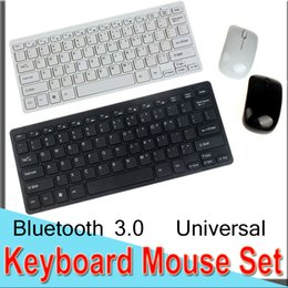 windows mini computers Coupons - Keyboard Mouse Set Combos Ultra-Slim 2.4GWireless Mini Keyboard And Mouse Bluetooth USB Universal for Window Computer Laptop EXHK33 50 Packs