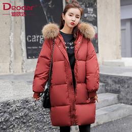 5f9d0d07277 feather down ladies jacket Promo Codes - Deodar 2018 autumn winter Women  ladies Fashion fur hoodie