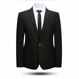 último diseño de traje de cuello Rebajas Los hombres negros trajes chaqueta último diseño del novio de la boda tuxedos de alta calidad del padrino de boda prom tuxedos chaqueta