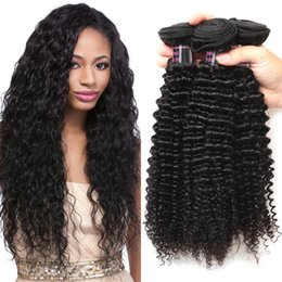 Wholesale Natural Curly Remy Hair - Ishow Human Hair Brazilian Kinky Curly Human Hair Bundles Wholesale 100% Remy Hair Bundles 3 Piece Shipping Free 8-28Inch Natural COlor