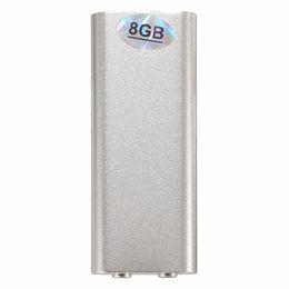 Hifi Mini 150Hr USB 8GB Registratore vocale digitale Dittafono Lettore MP3 Ripetete le macchine da