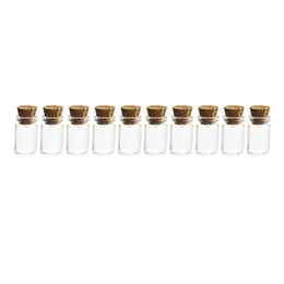 wholesale crafted bottles corks Promo Codes - HIPSTEEN 10Pcs 11*22MM 1ML Mini Glass Bottles Empty Sample Jars with Cork Stoppers for DIY Craft Decoration