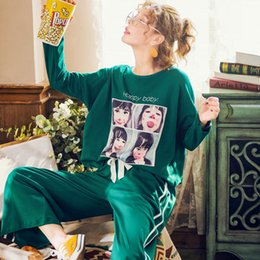Autumn Winter Pure Cotton Sexy Pyjama Women s Pajama Sets Night Leisure Long  Sleeved Pants Nightgowns Home Clothes Plus Size c47375395