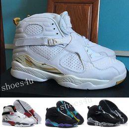 Wholesale Beige Elastic - 2017 8 VIII Basketball Shoes men high quality Sneakers Cheap VIII Aqua 8 Sports Boots BOX Free Shipping