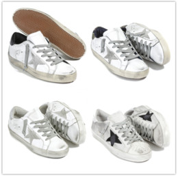 Wholesale Italy Brand Leather Shoes - Italy Brand Superstar Casual Shoe Man Woman Outdoors Sneaker New Designer Handmade Star Mixed Colors Black White Cheap Sneaker Size 35-46