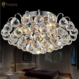 Wholesale Ceiling Contemporary Lamp - TRAZOS surface mounted Contemporary Ceiling Lamp Crystal Living Room Foyer Home Lights Lustre Fixtures Ceiling Lights