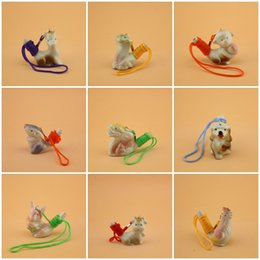 Wholesale chinese animal zodiac - Chinese Zodiac Whistles Children Toy Ceramics Water Bird Whistle With Rope Home Decoration Many Styles 1 25mca C