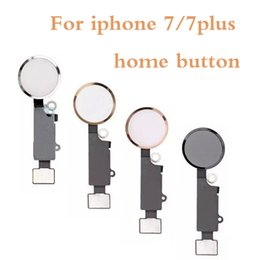 mikrofonanschluss Rabatt Home Button Für iPhone 7 7G 7 P 7 + 7 Plus Neue OEM Home Menü Taste Flexkabel + Key Cap Montage Teile
