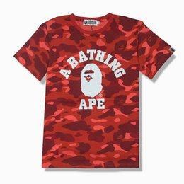 Wholesale T Shirt Easy - Newmen t shirt free shipping Men's Wear Tide Brand Camouflage Cartoon Man Leisure Time Round Neck Easy Short Sleeve Tshirt