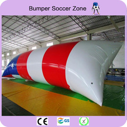 Wholesale trampoline jumping - Free Shipping 9*3m Inflatable Trampoline Inflatable Water Blob Jump Water Trampoline Inflatable Water Blob With a Pump