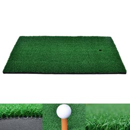 tee pad Promo Codes - Backyard Golf Mat 37x25cm Residential Training Hitting Pad Practice Rubber Tee Holder Drop Shipping