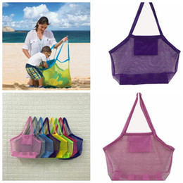 Wholesale children clothes collection - Folding Children sand away beach mesh bag Children Beach Toys Bag baby toy collection handbag KKA5549