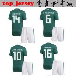 Wholesale R H - 2018 World Cup CHICHARITO kids soccer jersey thai quality H. LOZANO home away R. MARQUEZ LAYUN G. DOS SANTOS mexico children Football shirt