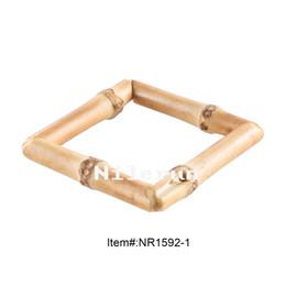 Moda quadrado de raiz de bambu hairpin brincos colar de pingente de cinto de jóias roupas de vestuário vestuário sacos de fivela acessórios de