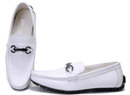 Wholesale Men Black Rubber Suits - Luxury Brand Men cow leather Lazy shoe Slip-On formal Suit Business Office Shoe Flat Heel men Suede Horsebit Loafers,40-47