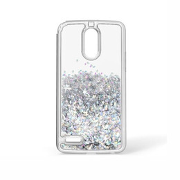 Wholesale case quicksand lg - Transparent phone cases Fun Glitter Star Quicksand Liquid Phone Back cover For Motorola MOTO E4 LG K10 2018 V30 Aristo 2 X210 Top Quality