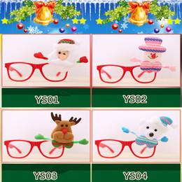 quadros de óculos de natal Desconto Óculos de natal papai noel boneco de neve óculos de armação de óculos espetáculos partido fancy dress traje acessório prop presente le69