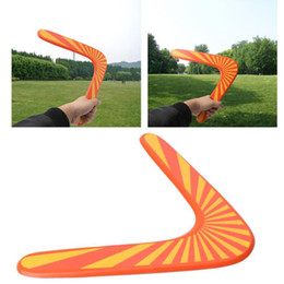 Wholesale Wooden Games Outdoor - New Style Throwback V Shaped Boomerang Wooden Frisbee Kids Toy Throw Catch Outdoor Game free shipping
